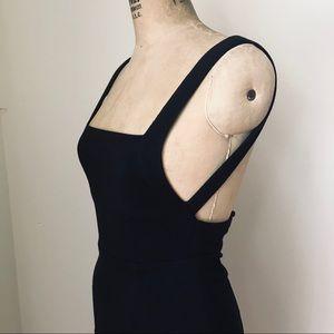 UO SILENCE+NOISE black backless midi dress - XS